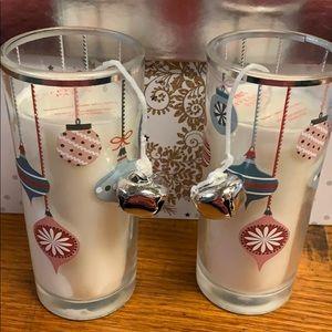 NWT! Set of 2 Christmas Candles!
